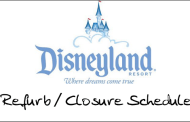 Refurb/Closure Schedule for Disneyland April 2010