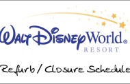 Refurb/Closure Schedule for Walt Disney World May 2010