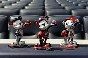 MLB and Disney Unveil Baseball-Themed Mickey Mouse Statues