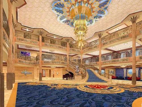 Disney Pic of the Day – Disney Dream Atrium Lobby Rendering