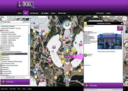 eticketmap brings your disney vacation planning experience to the web