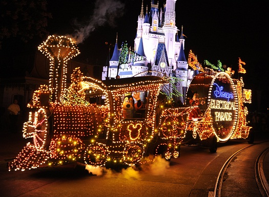 Final Performance of the Main Street Electrical Parade at Walt Disney World