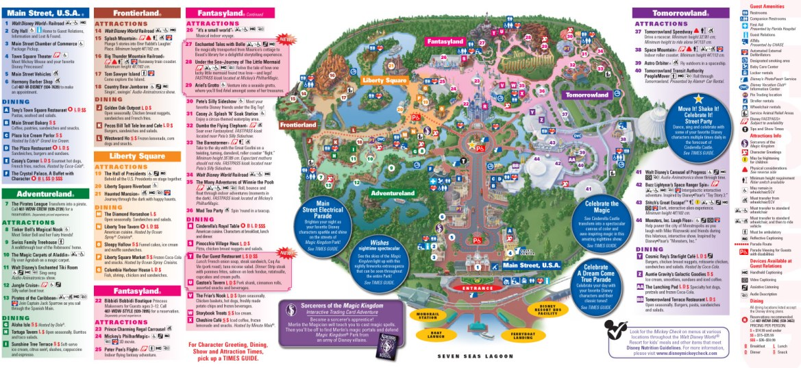 Disney Quick Tip – Study the Disney World Park Maps