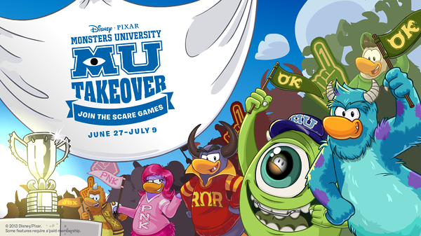 """""""Monsters University"""" Takes Over Club Penguin"""