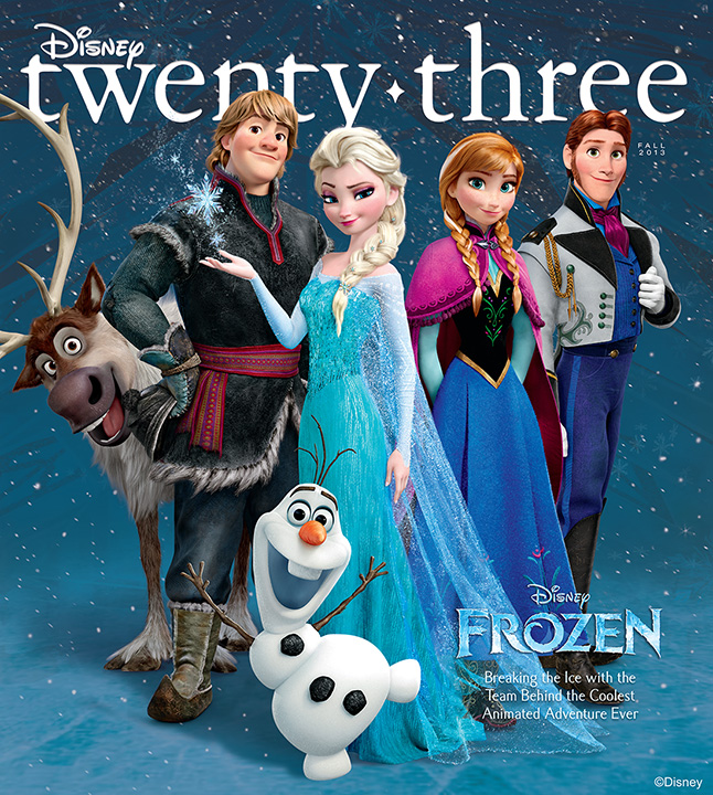 "D23 gets ""Frozen"" on next months D23 Magazine"