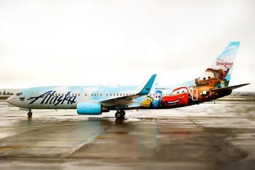 Alaska Airlines Debuts Disneyland Plane