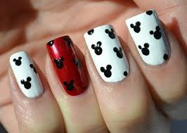 Surprise your girls and paint your fingernails Disney Style!