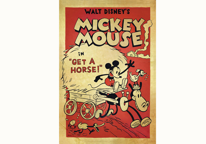 "A Disney Short ""Get a Horse"" Nominated for an Oscar"