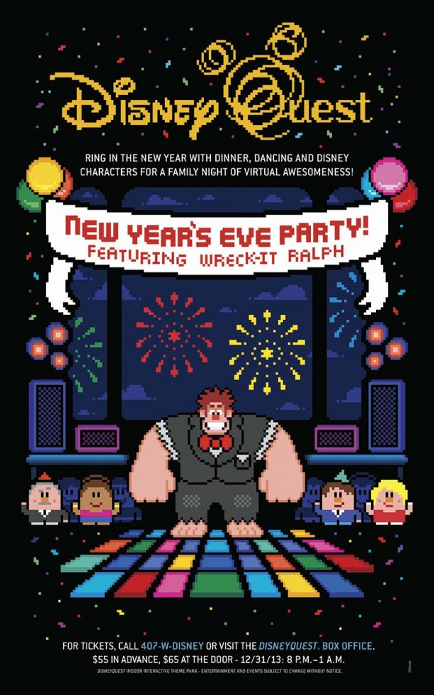 New Year's Eve Fun at DisneyQuest in Walt Disney World
