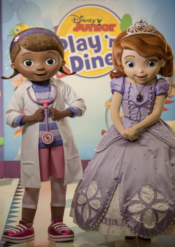 Doc McStuffins and Sofia the First Are Now Appearing at Disney Junior Play 'n Dine