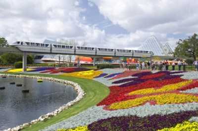 monorail at Epcot Flower and Garden