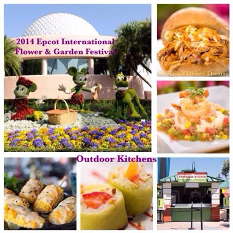 Let your taste buds soar at the New Epcot Outdoor Kitchens part of Flower & Garden Festival