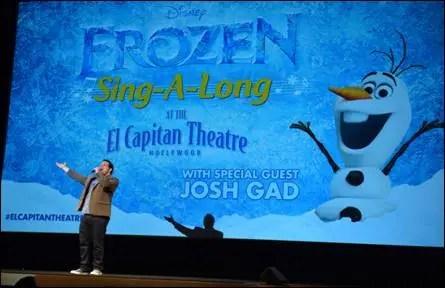 """Josh Gad Surprises """"Frozen"""" Fans at Sing Along"""