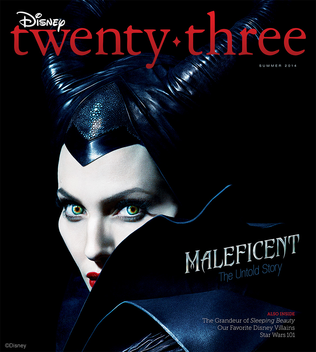 """""""Maleficent"""" Makes the Cover of the D23 Summer Issue"""