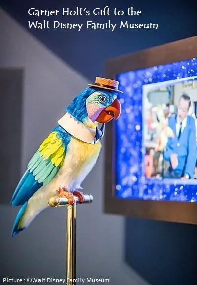 The Walt Disney Family Museum gets a Barker Bird from Garner Holt Productions