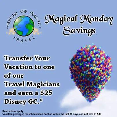 World of Magic Travel Magical Monday Savings