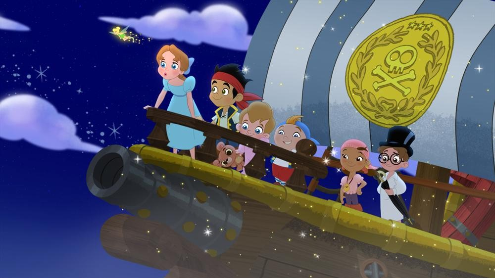Wendy drops in on Jake and the Neverland Pirates!