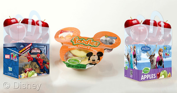 Disney to Showcase New Frozen and Spider-Man-Branded Bagged Apples