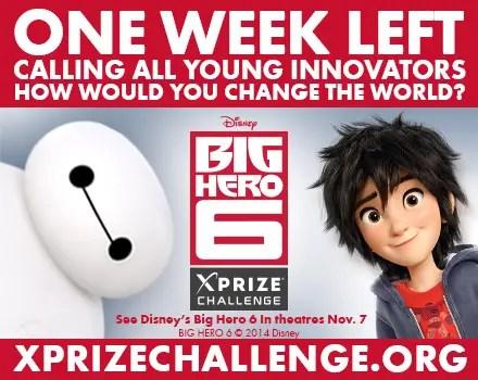 One Week Left to Enter Disney – XPRIZE Big Hero 6 Challenge