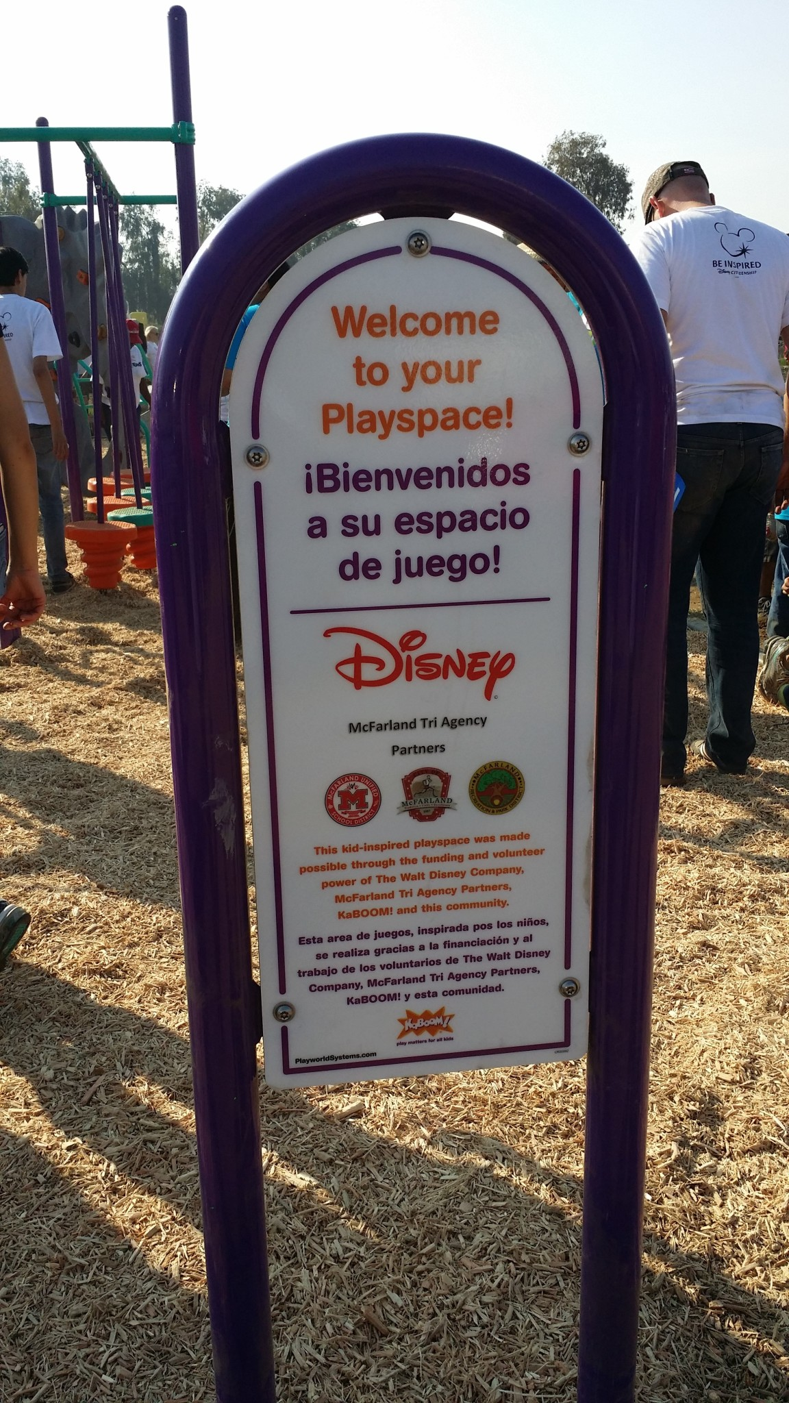 Disney joins forces with McFarland community to build playground.