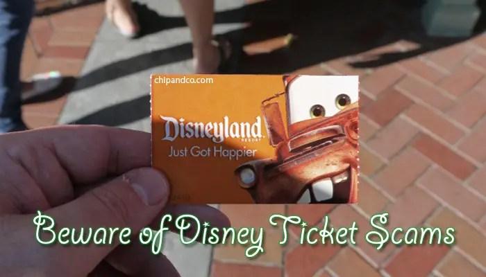 Beware of Disneyland Ticket Scams