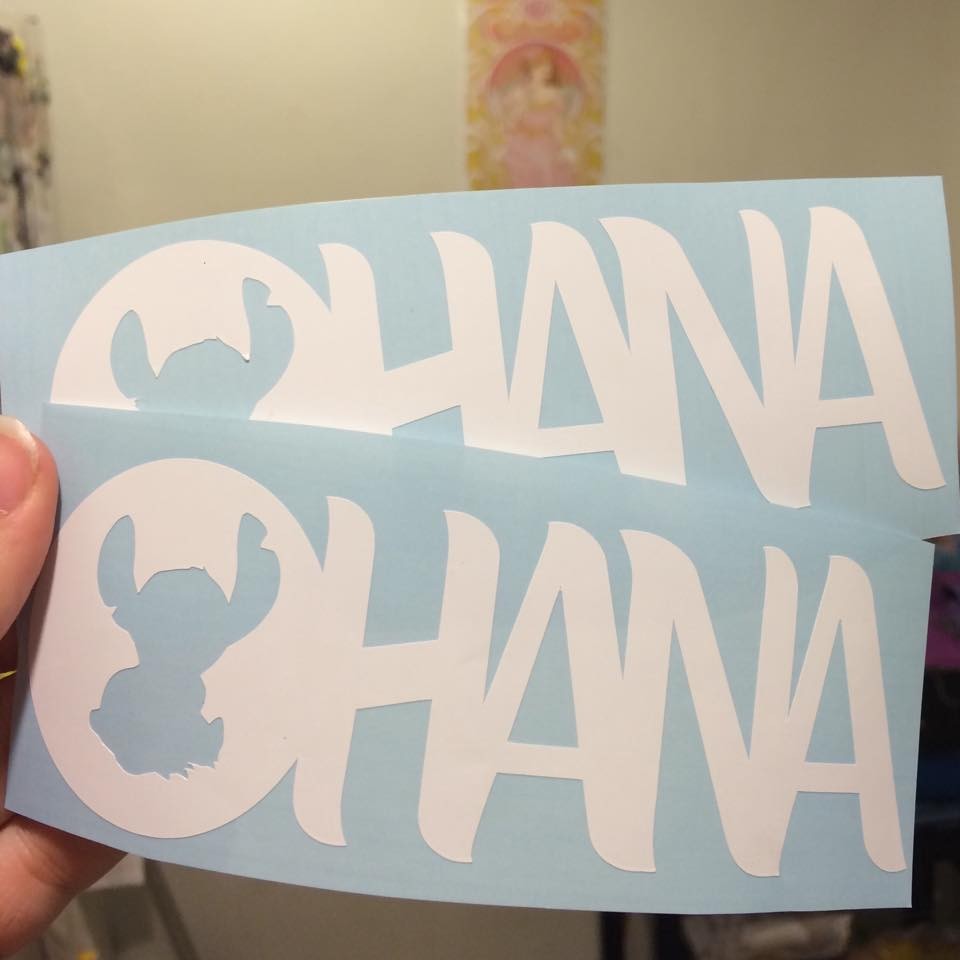 Disney Finds – Ohana all weather vinyl decal