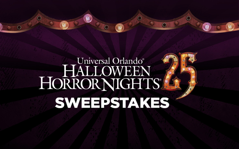Universal Orlando Halloween Horror Nights 25 Sweepstakes