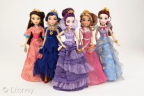 "Descendants Coronation Doll Assortment Licensee: Hasbro MSRP: $24.99 each Retailers: Mass retailers Available: August 2015 The girls of Isle of the Lost and Auradon come together in their coronation fashions as seen in the finale of Disney's ""Descendants."" Each doll features a beautiful gown with matching accessories. (Each sold separately)"