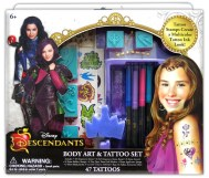 """"""" Descendants Body Art & Tattoo Set Licensee: Innovative Designs MSRP: $12.99 Retailers: Toys """"R"""" Us & Kohl's Available: August 15 Create your own multicolor tattoo ink look inspired by favorite Descendants characters. """""""