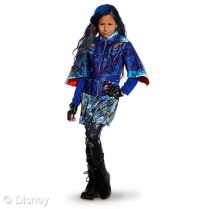"""Descendants Evie Costumes for Kids MSRP: $44.95 Retailers: Disney Store and DisneyStore.com Available: Now Your young student will be spellbound while dressed as Evie, the daughter of the Evil Queen. In this wicked costume, it's easy to imagine attending Auradon Prep with the villainous young generation from Disney Channel's """"Descendants."""""""