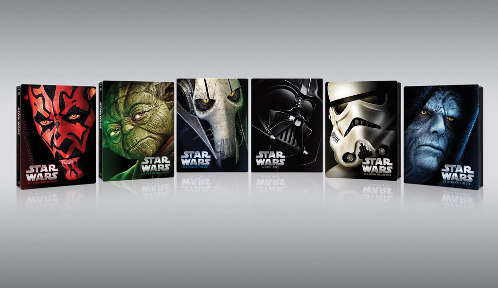 The Star Wars Saga to be Enshrined in LIMITED EDITION BLU-RAY STEELBOOKS