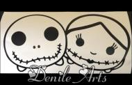 Hauntingly Cute Jack & Sally Tsum Tsum Decal