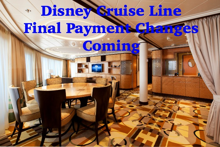 Disney Cruise Line Updates Final Payment Date for Suite and Concierge Guests