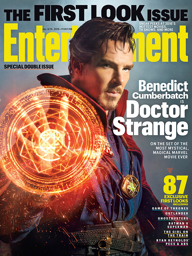 Benedict Cumberbatch Featured On The Cover of Entertainment Weekly as Doctor Strange