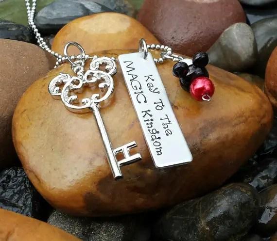 Disney Find- Elegant Key to the Magic Kingdom Necklace