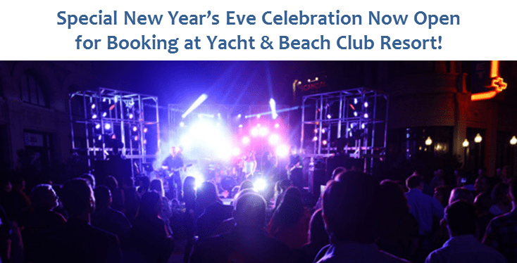 Special New Year's Eve Celebration Now Open for Booking at Yacht & Beach Club Resort!