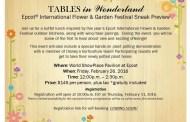 Epcot Flower & Garden Festival Sneak Preview for Tables in Wonderland Members