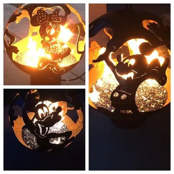 Amazing Custom Designed Disney Steel Fire Pits
