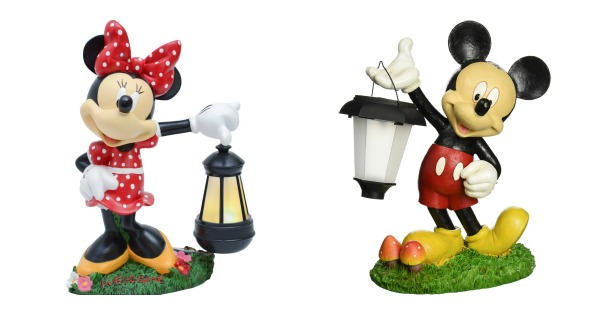 Light Up With These Adorable Mickey and Minnie Disney Garden Lanterns
