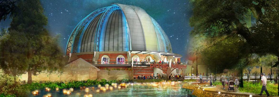 Planet Hollywood Orlando Re-Imagined as Early 20th Century Observatory