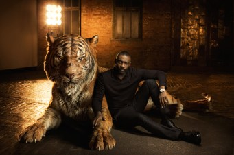 """THE JUNGLE BOOK - Voiced by Idris Elba, Shere Khan bears the scars of man, which fuel his hatred of humans. Convinced that Mowgli poses a threat, the bengal tiger is determined to rid the jungle of the man-cub. """"Shere Khan reigns with fear,"""" says Elba. """"He terrorizes everyone he encounters because he comes from a place of fear."""" Photo by: Sarah Dunn. ©2016 Disney Enterprises, Inc. All Rights Reserved."""