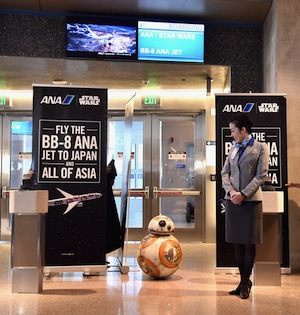 BB-8 ANA Jet Arrives Today at LAX!