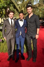 """HOLLYWOOD, CALIFORNIA - APRIL 04: (L-R) Actors Roberto Aguire, Ritesh Rajan and Damon Dayoub attend The World Premiere of Disney's """"THE JUNGLE BOOK"""" at the El Capitan Theatre on April 4, 2016 in Hollywood, California. (Photo by Alberto E. Rodriguez/Getty Images for Disney) *** Local Caption *** Roberto Aguire; Ritesh Rajan; Damon Dayoub"""