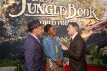 """HOLLYWOOD, CALIFORNIA - APRIL 04: (L-R) Actors Giancarlo Esposito, Lupita Nyong'o and President of Marketing for The Walt Disney Studios, Ricky Strauss attend The World Premiere of Disney's """"THE JUNGLE BOOK"""" at the El Capitan Theatre on April 4, 2016 in Hollywood, California. (Photo by Jesse Grant/Getty Images for Disney) *** Local Caption *** Ricky Strauss; Giancarlo Esposito; Lupita Nyong'o"""