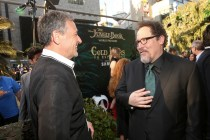 """HOLLYWOOD, CALIFORNIA - APRIL 04: Chairman and CEO, The Walt Disney Company, Bob Iger (L) and director Jon Favreau attend The World Premiere of Disney's """"THE JUNGLE BOOK"""" at the El Capitan Theatre on April 4, 2016 in Hollywood, California. (Photo by Jesse Grant/Getty Images for Disney) *** Local Caption *** Bob Iger; Jon Favreau"""