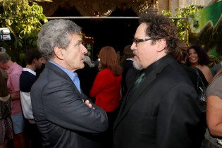 """HOLLYWOOD, CALIFORNIA - APRIL 04: Chairman of the Walt Disney Studios, Alan Horn and director Jon Favreau attend The World Premiere of Disney's """"THE JUNGLE BOOK"""" at the El Capitan Theatre on April 4, 2016 in Hollywood, California. (Photo by Jesse Grant/Getty Images for Disney) *** Local Caption *** Jon Favreau; Alan Horn"""