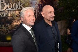 """HOLLYWOOD, CALIFORNIA - APRIL 04: Producer Brigham Taylor (L) and actor Sir Ben Kingsley attend The World Premiere of Disney's """"THE JUNGLE BOOK"""" at the El Capitan Theatre on April 4, 2016 in Hollywood, California. (Photo by Alberto E. Rodriguez/Getty Images for Disney) *** Local Caption *** Brigham Taylor; Ben Kingsley"""