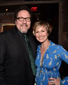 """HOLLYWOOD, CALIFORNIA - APRIL 04: Director Jon Favreau (L) and actress Melora Hardin attend The World Premiere of Disney's """"THE JUNGLE BOOK"""" at the El Capitan Theatre on April 4, 2016 in Hollywood, California. (Photo by Alberto E. Rodriguez/Getty Images for Disney) *** Local Caption *** Jon Favreau; Melora Hardin"""