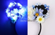 Light Up the Night With These Magical Blue Daisy LED Light-up Mouse Ears