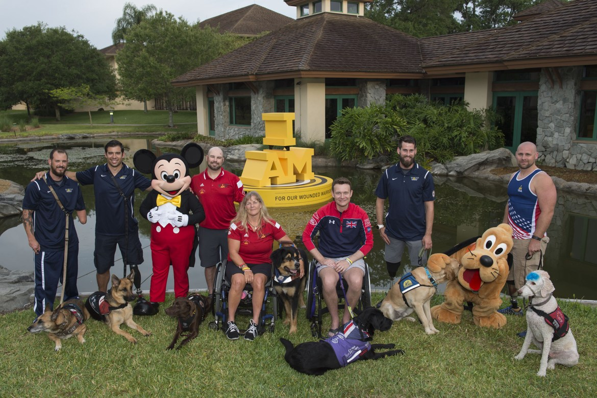 Service Dogs from the Invictus Games have a Good Day with Mickey Mouse & Pluto at Walt Disney World Resort